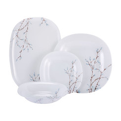 Luminarc Tempered Neo Carina Hana White Dinner Set 19pcs