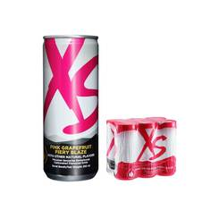 XS Energy Drink Pink Grapefruit Fiery Blaze - 1 Pack Of 6 Cans