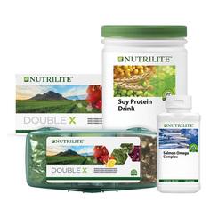 Nutrilite DOUBLE X, Nutrilite Soy Protein Drink and Nutrilite Salmon Omega Complex (120SG)