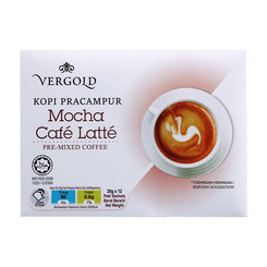 Vergold Mocha Café Latte - 12 sachets x20g