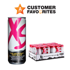 XS Energy Drink Pink Grapefruit Fiery Blaze - 4 packs of 6 cans