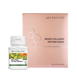 Nutrilite Mixed Collagen Peptide Drink (30 Sticks) & Nutrilite Bio C Plus All Day Formula (60 Tab)
